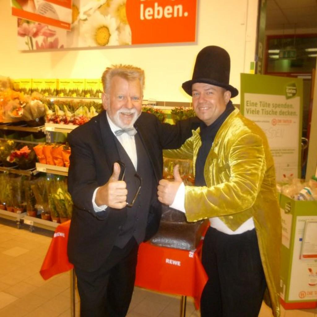 8.11.2003 Show in Dresden bei REWE